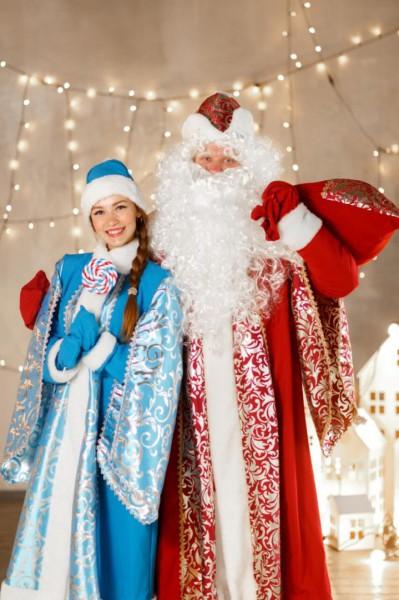 Дед Мороз и Снегурочка от лофт-пространства Полиграф