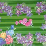 Цветочная полянка из старых открыток