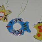 Ёлочные игрушки из солёного теста
