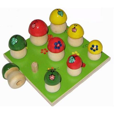 Дидактический материал «Грибочки на поляне» (9 грибочков)