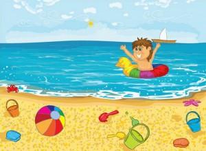 Ребёнок в воде