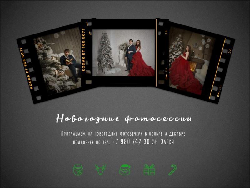 Олеся Догадкина, новогодний фотопроект