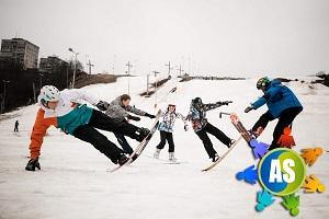 Соревнования по сноубордингу для детей