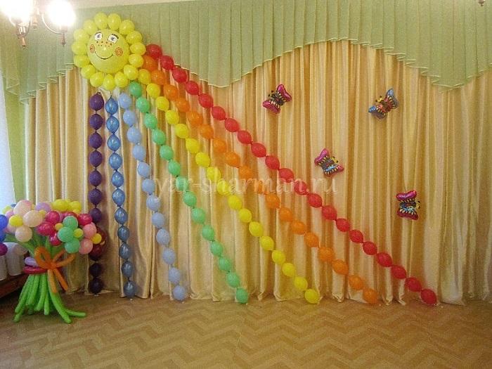 Украшение зала на выпускной в детский сад своими руками