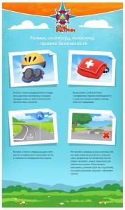 Ролики, скейтборд велосипед - правила безопасности