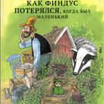 История о том, как Финдус потерялся, когда был маленький. Свен Нурдквист