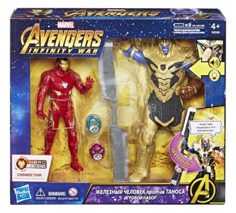 Игровой набор Avengers Железный Человек против Таноса