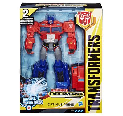 Игрушка Transformers Кибервселенная Персонажи нового мультфильма «Кибервселенная» эффектно и просто трансформируются в 9-12 шагов, при этом последняя ступень трансформации активирует фирменный удар каждого героя! Яркие игрушки размером 30 см заставит трепетать любого фаната вселенной автоботов и десептиконов, ведь с ним можно придумать самые невероятные фантастические сюжеты для игры!