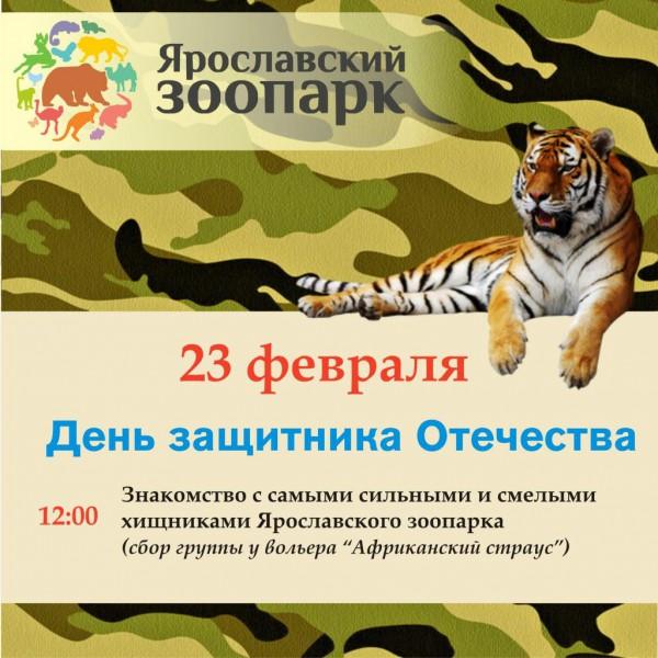 День защитников Отечества в Ярославском зоопарке